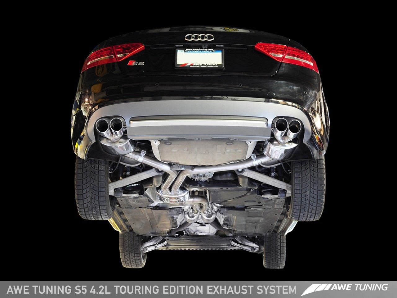 awe tuning touring exhaust for 2008 12 audi s5 coupe b8. Black Bedroom Furniture Sets. Home Design Ideas