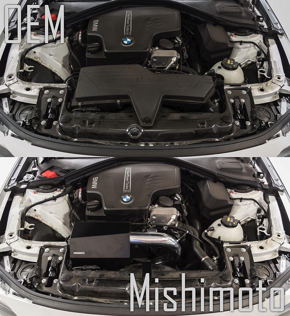 Mishimoto BMW Intake Polished Installed MMAI-F30-12