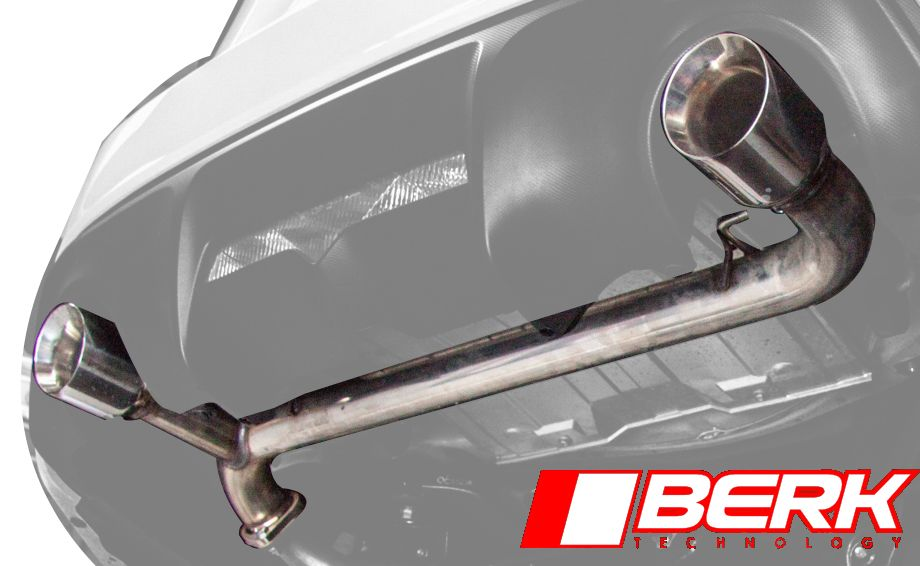 Berk Technology Muffler Delete (Track Pipe) for 2012+ Scion FR-S / Subaru BRZ [ZN6/ZC6] w/Tips	BT8610