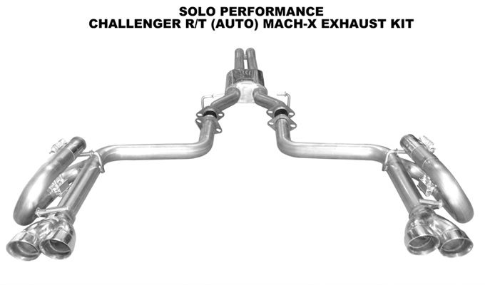 Solo Performance Mach X Cat Back Exhaust for 2008-15 Dodge Challenger R/T - Auto [LC]