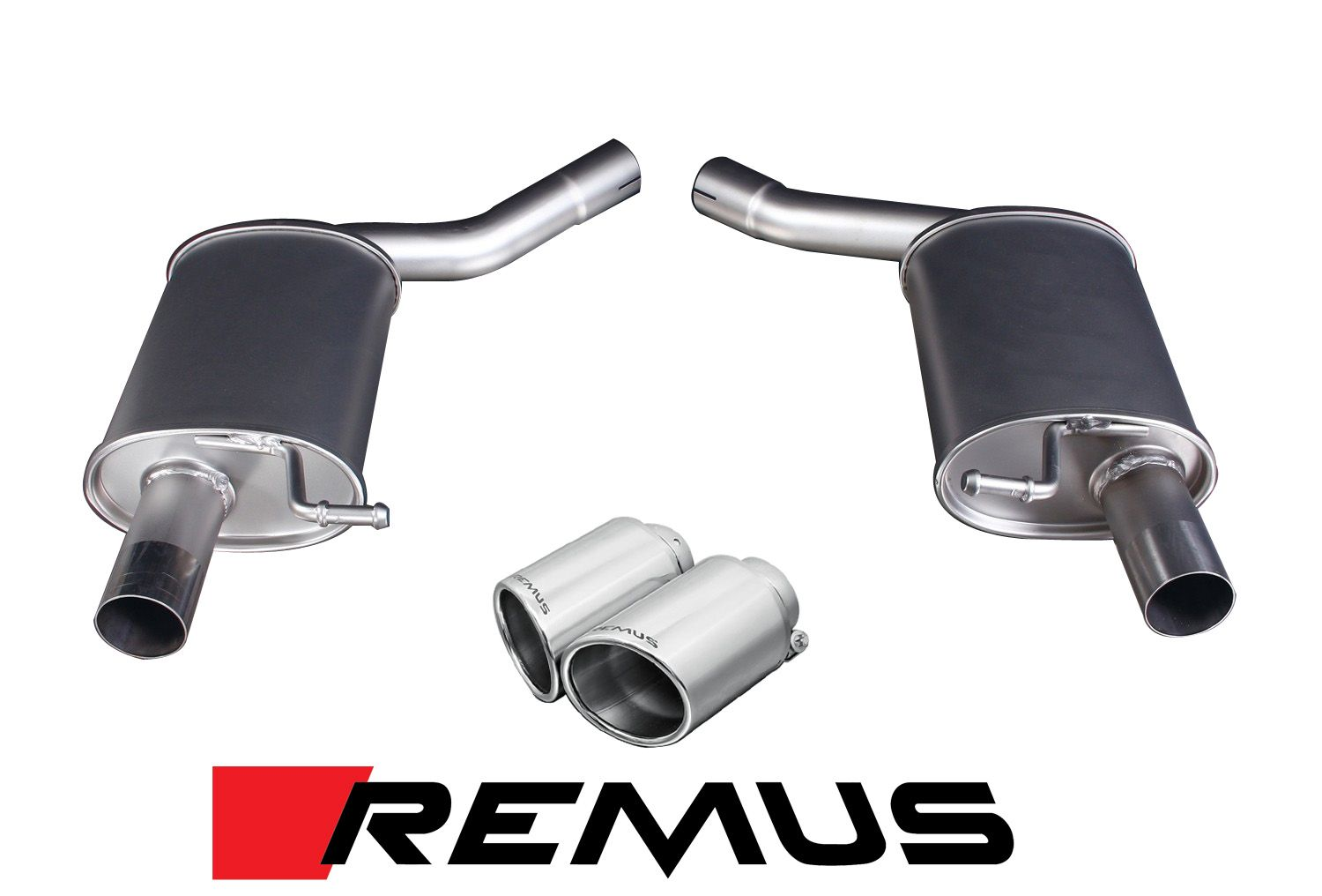 Remus Cat-Back Exhaust for 2012-16 Audi A7 [C7] 048011 0500LR + 0026 70SS