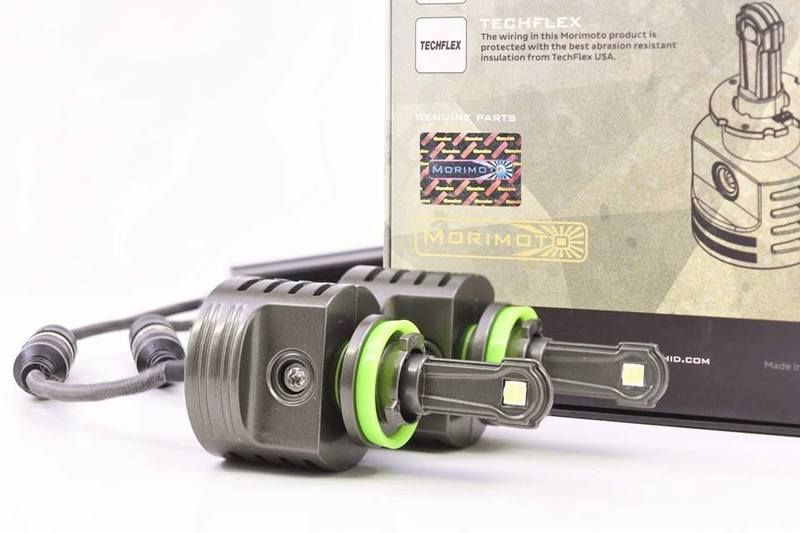 Morimoto 2Stroke LED Headlight And Foglight Bulbs for H7, H8, H11, 9005, 9006,D2S, D2H