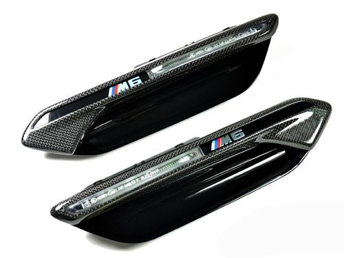 Carbon Fiber Fender Light Trim for 2011+ BMW M6 [F06/F12/F13]