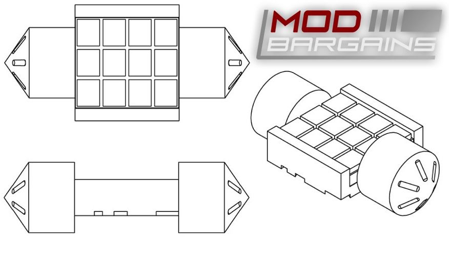 Morimoto XB 2.0 Festoon LED 3D CAD