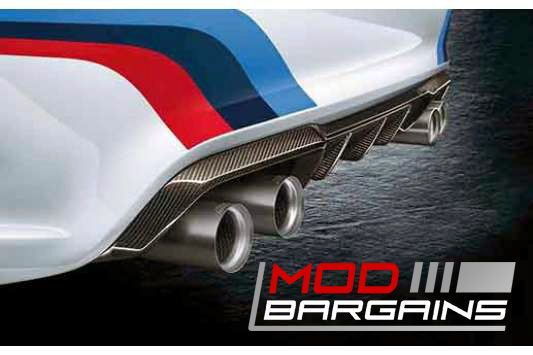 BMW M2 F87 OEM Carbon FIber Rear Diffuser Installed
