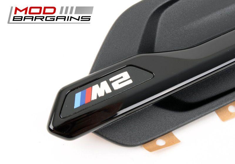 OEM BMW M2 Black Front Fender Grilles