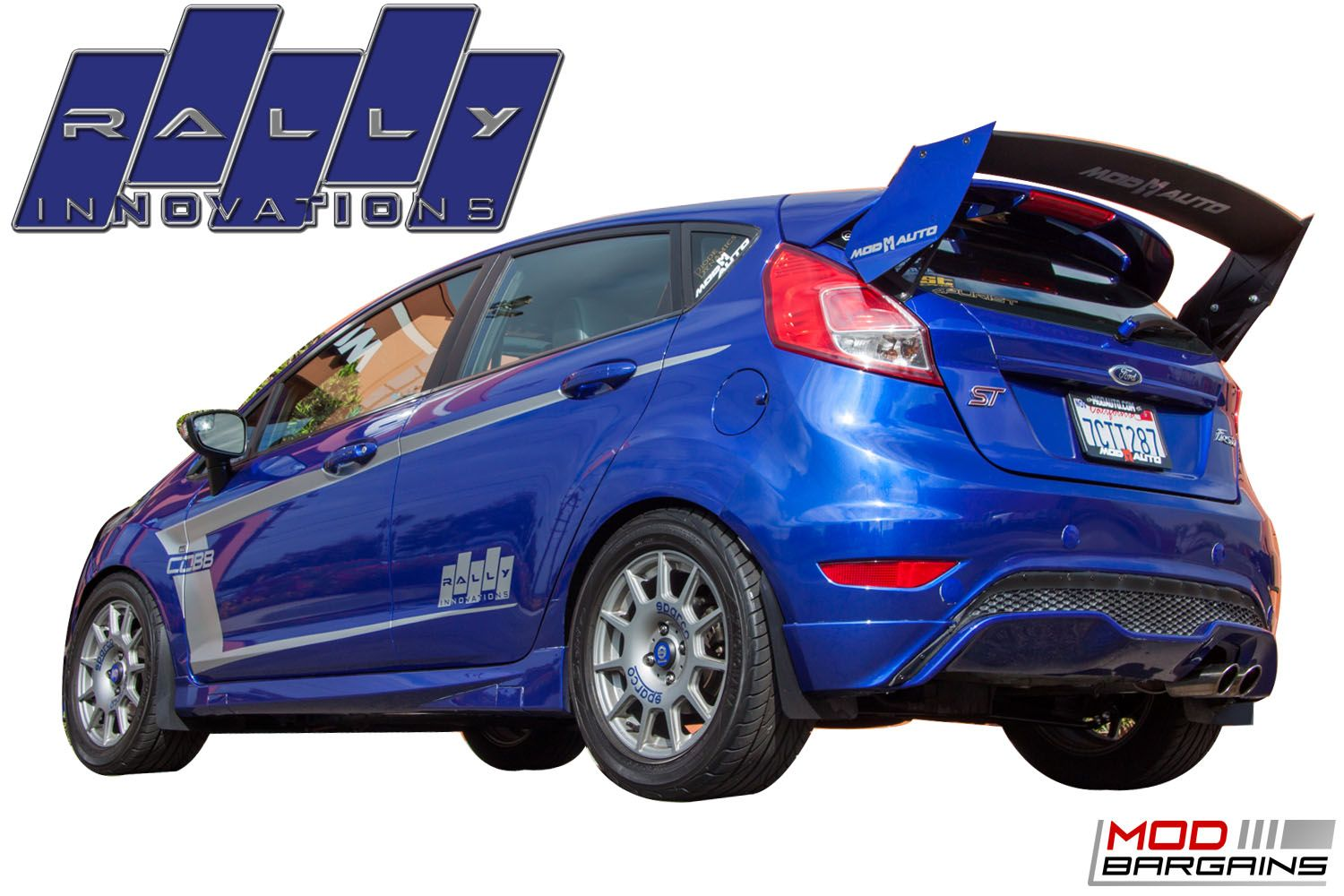 Race Rear Wing Spoiler for 2014+ Ford Fiesta ST [MK 7.5 JA8 ST180] by Rally Innovations
