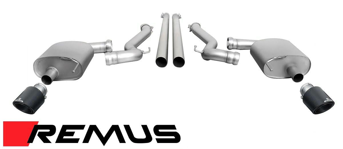 Remus Racing Cat-back Exhaust for 2015+ Mustang GT 5.0 (206815 0500LR-206515 0500LR)