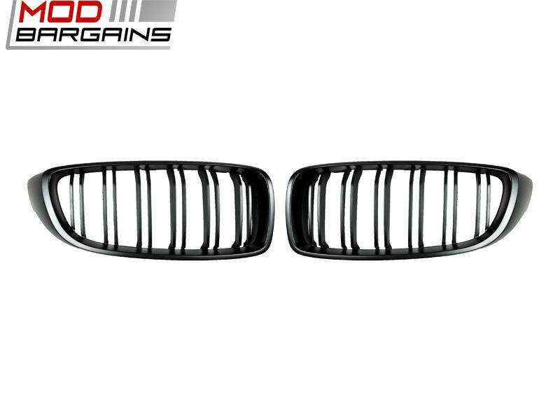 Autotecknic-dual-slot-front-grill-BMW-4series-f32-f36-M4-fm / Autotecknic Dual Slat Front Grille 2017+ BMW 4-Series M3 F32/F36 F80 F82/83 (BM-0175-DS-MB)