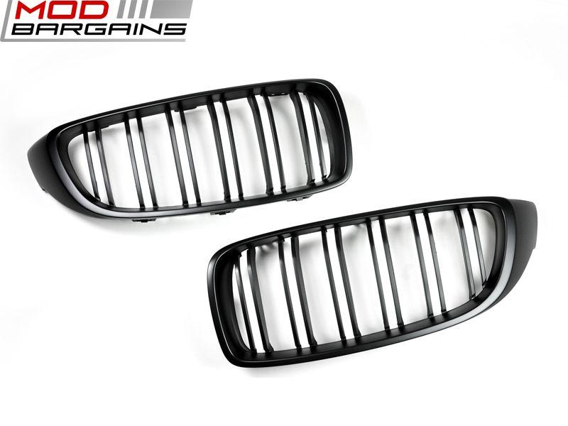 Autotecknic Dual Slat Front Grille 2013+ BMW 4-Series M3 F32/F36 F80 F82/83 (BM-0175-DS-MB)
