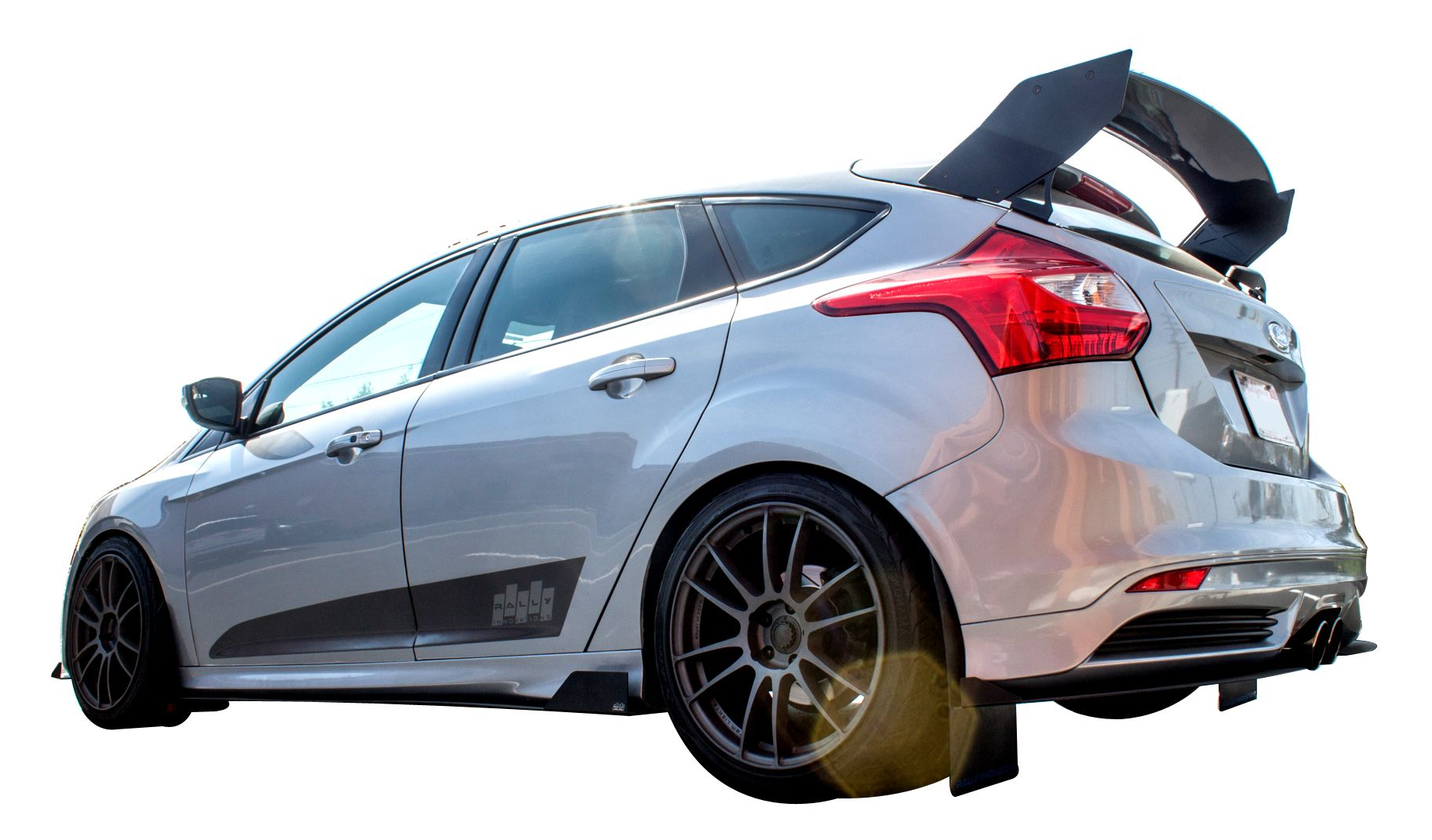 Race Rear Wing Spoiler For   Ford Focus St Rs Mk