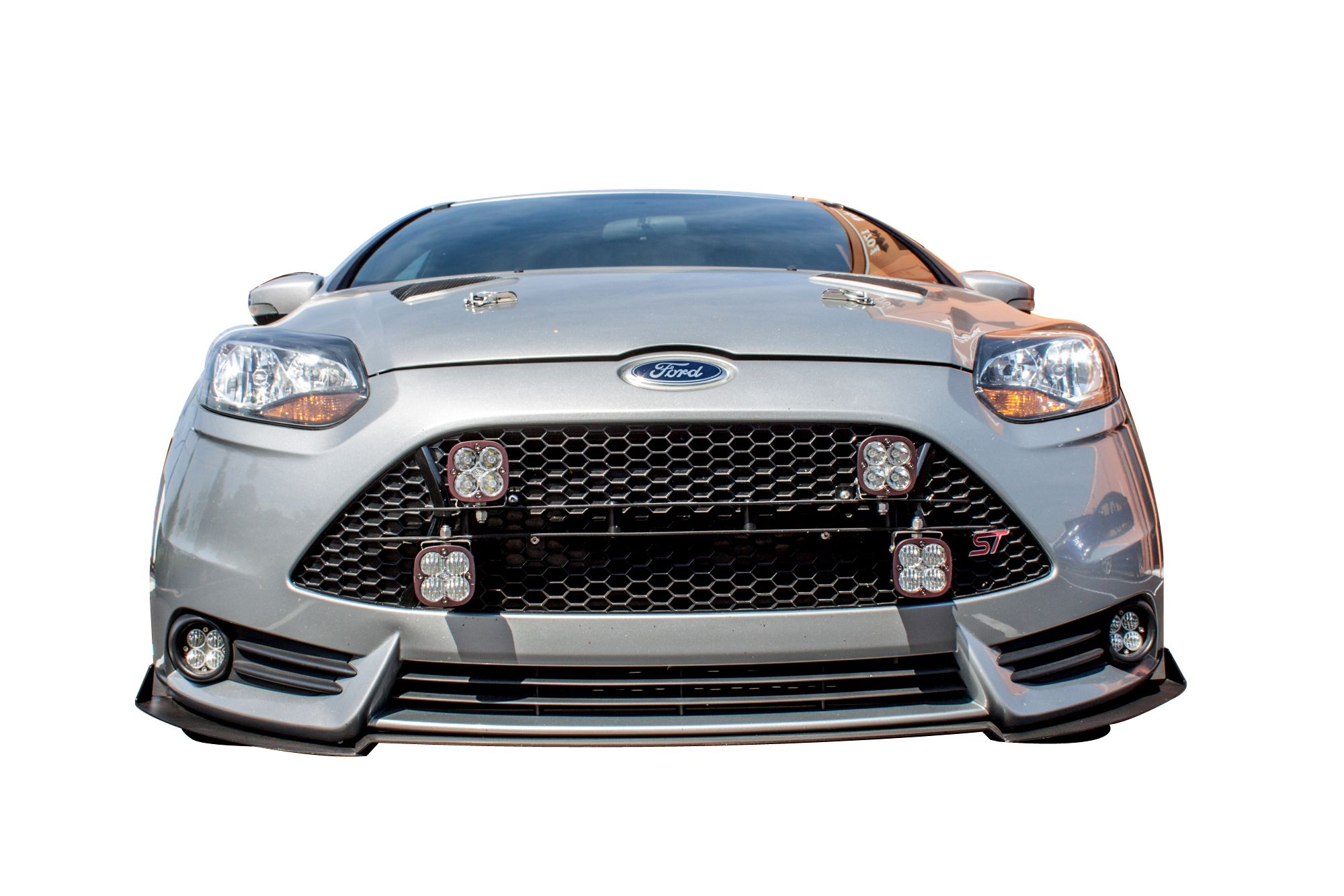Front Light Plate w/4x Mounts for 2013-14 Ford Focus ST [MK III ST250] by Rally Innovations