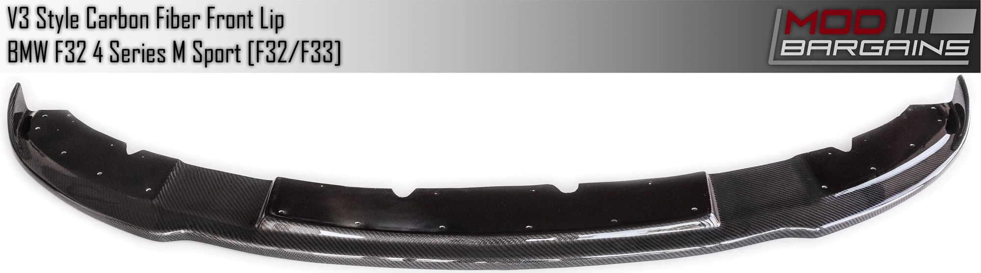 Front View V3 Carbon Fiber Front Lip BMFS3225