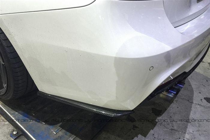 Carbon Fiber Rear Bumper Side Skirts Installed BMSS3021