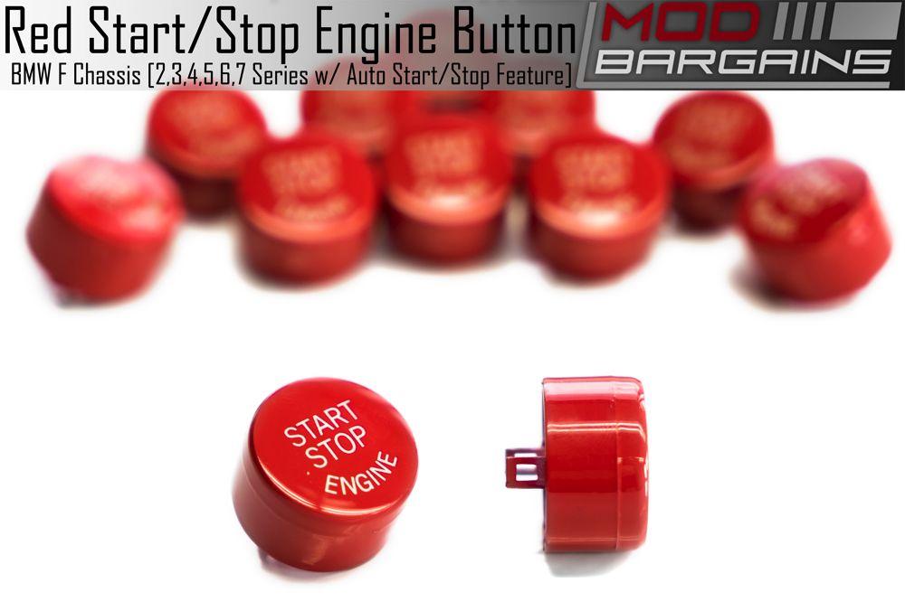 BMW Auto Start Stop Red Button for F Chassis vehicles. F01, F10, F12, F22, F30, F32, F80, F82, F87