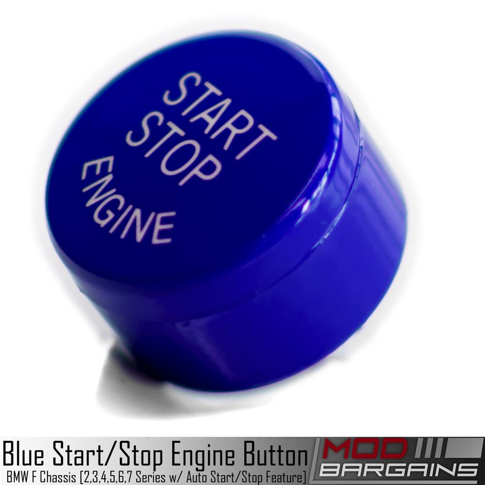 BMW Auto Start Stop Blue Button for F Chassis vehicles. F01, F10, F12, F22, F30, F32, F80, F82, F87