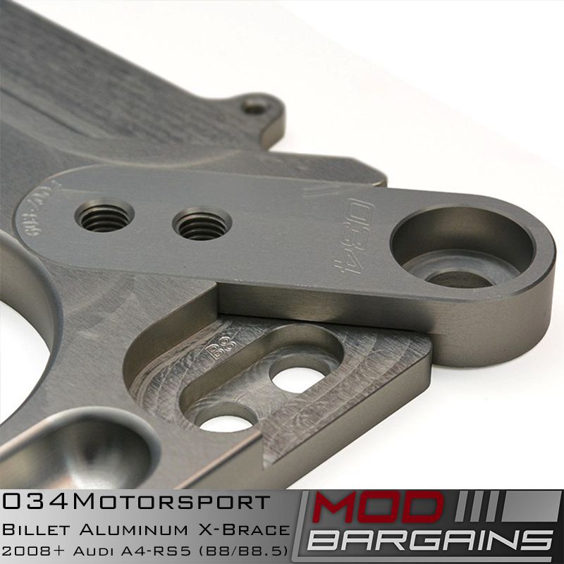 034Motorsport Billet Aluminum X-Brace Mounting Bracket Detail