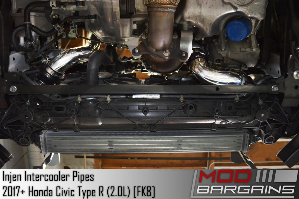 Injen Intercooler Pipes for 2017 Civic Type R 2.0L Turbo Installed