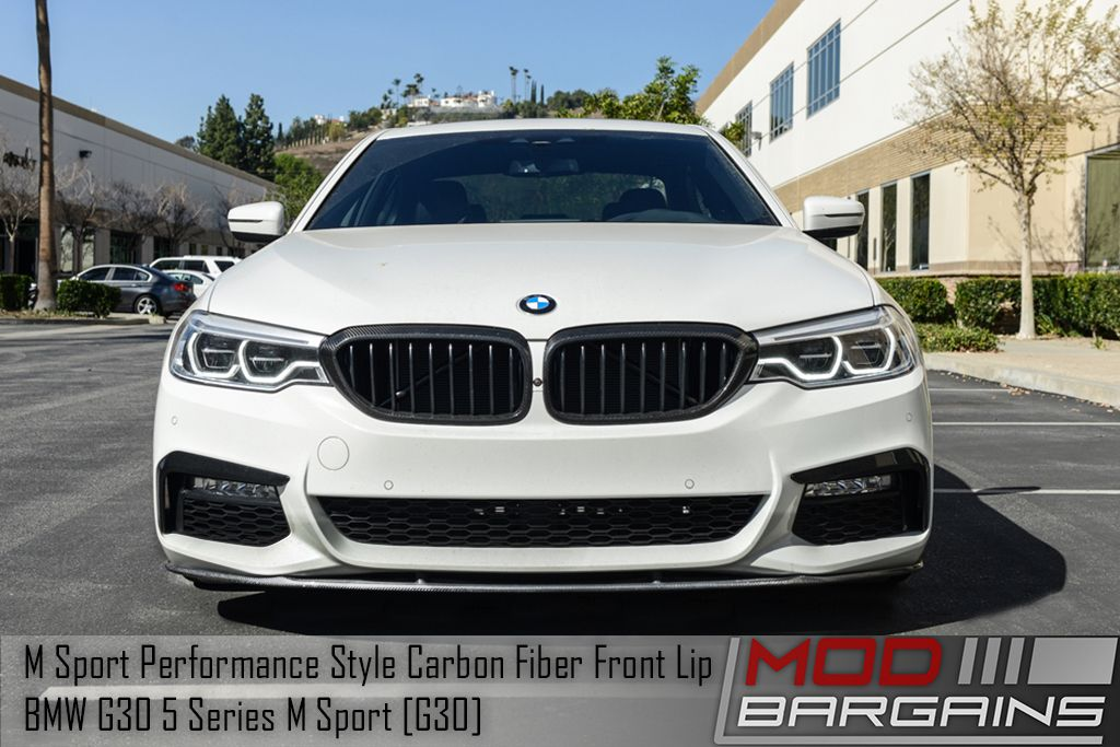 Carbon Fiber Performance Style Front Lip for 2017+ BMW 5-Series M Sport [G30] BMFSG3021