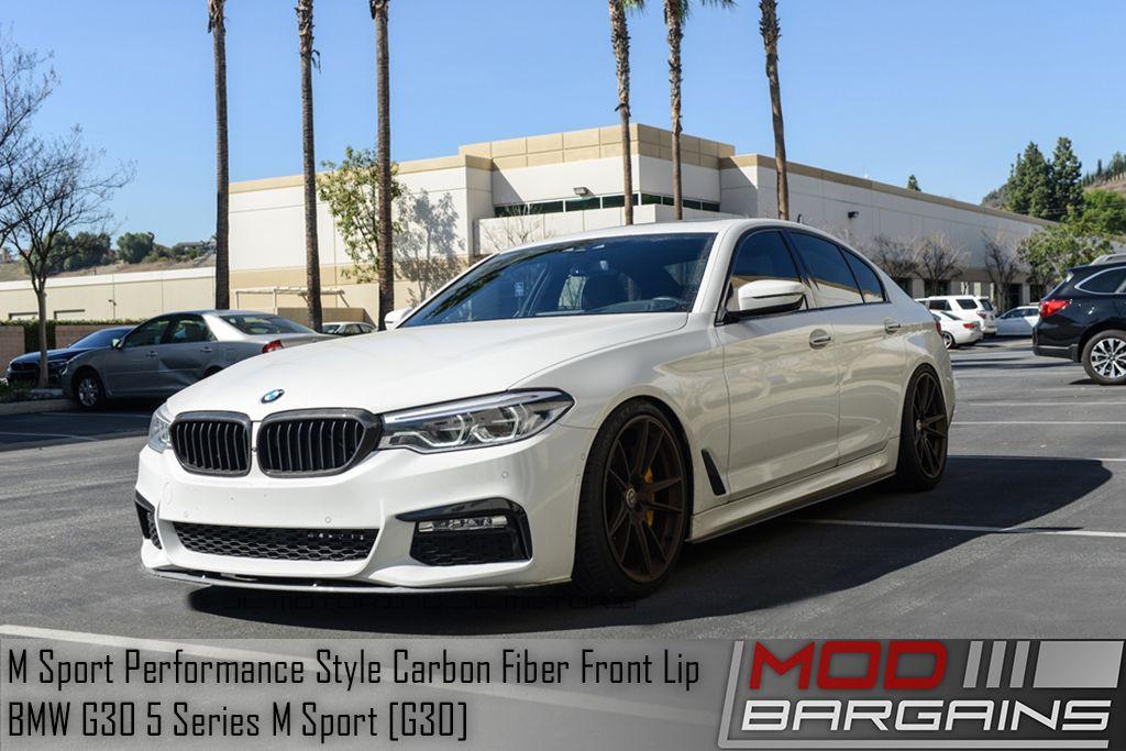Carbon Fiber Front Lip BMW 5 Series M Sport BMFSG3021