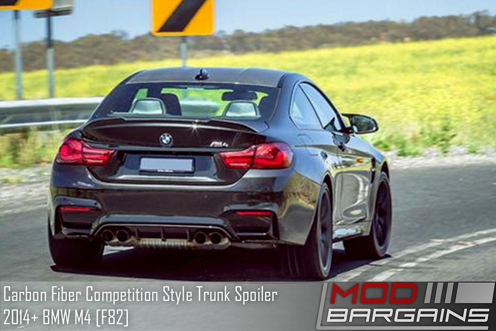 BM-0289 Autotecknic rear trunk spoiler installed on bmw M4 [F82]
