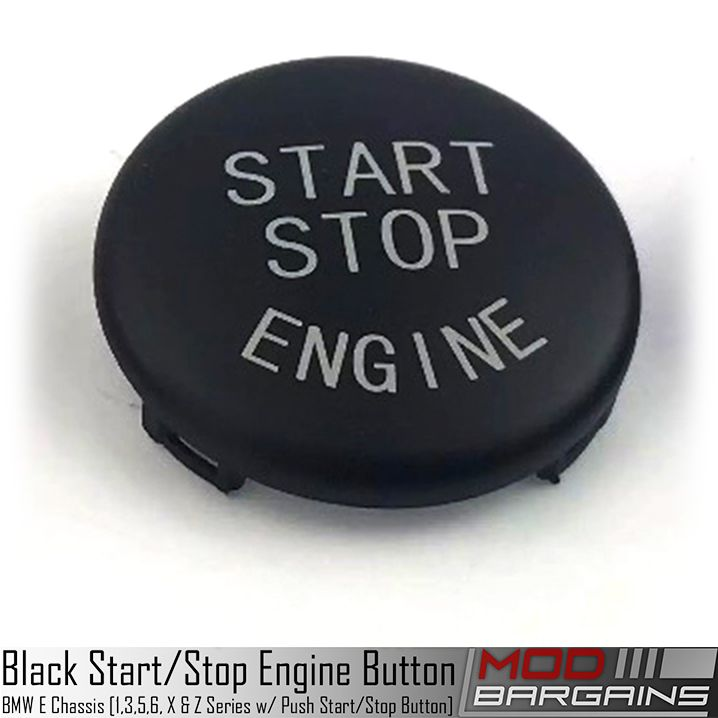 Black Start / Stop Engine Button for BMW 1, 3, 5, 6, X & Z Series E Chassis w/ Start Stop Button