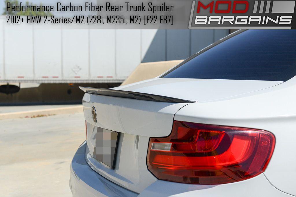 Carbon Fiber Rear Deck Spoiler Installed on 2012+ BMW 2 Series [F22] BMTS2201