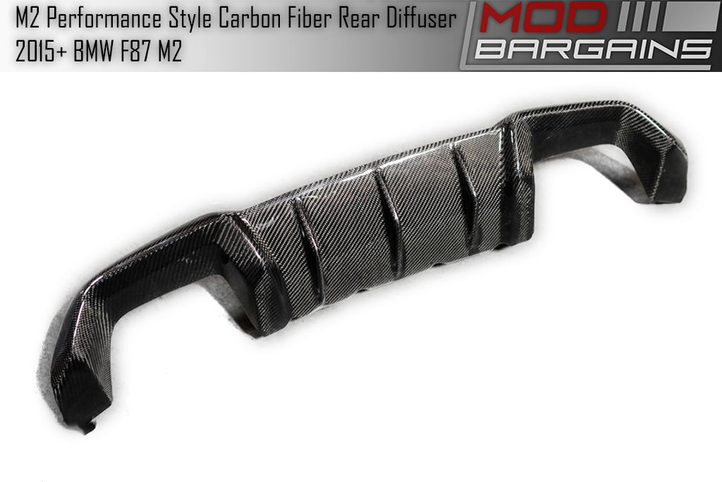 Carbon Fiber Performance Style Rear Diffuser for 2015+ BMW M2 [F87] BMDI8701
