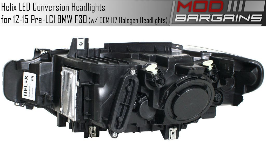 LED Headlight Conversion Set for BMW F30/F32 2012-2015 Vehiucles with Halogen H7 Headlights