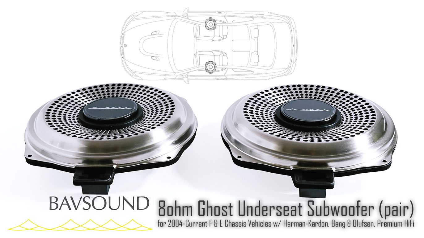 BSD.GUSW.80 BAVSound Ghost Underseat Subwoofer Harman-Kardon, Bang & Olufsen