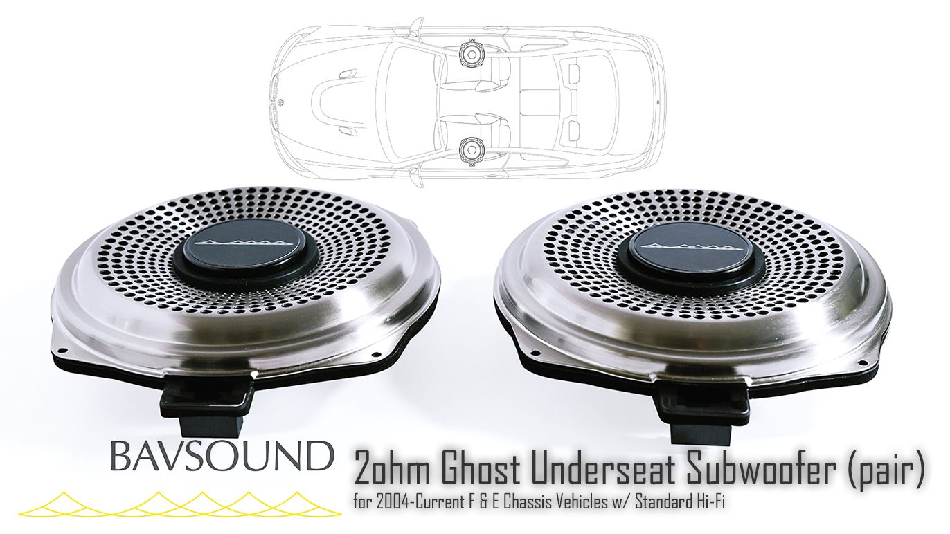 BSD.GUSW.20 BAVSound Ghost Underseat Subwoofer Base Hi-Fi