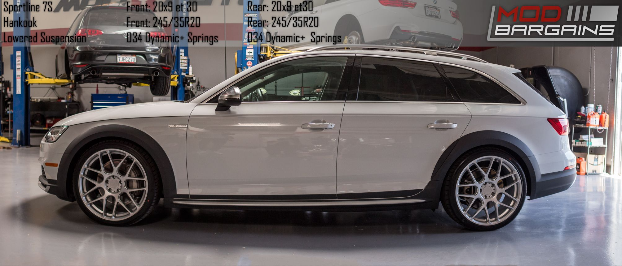 Sportline 7S Wheels Installed on audi A4 All Road [B9]