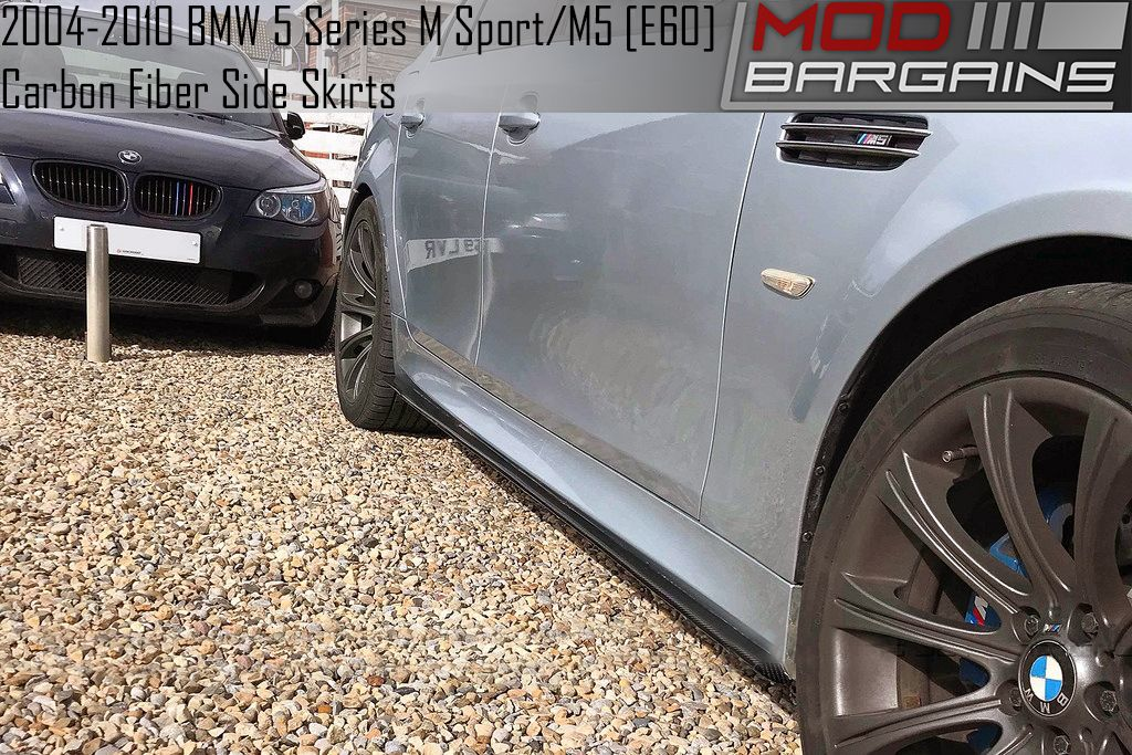 BMSS6001 Carbon Fiber Side Skirts for E60