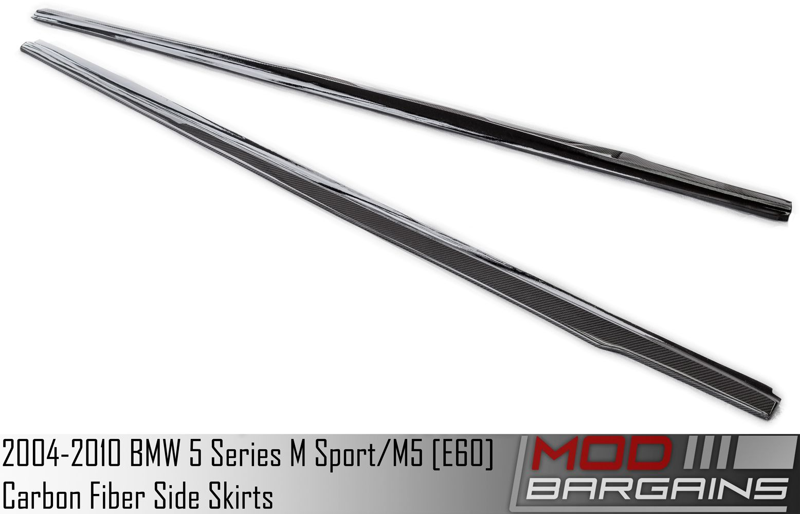 Carbon Fiber Side Skirts for 2004-2010 BMW M5 and 5 Series (w/ M Sport) [E60] BMSS6001