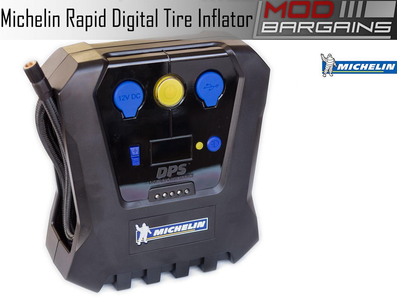 Michelin High Power 12 Volt Rapid Digital Tire Inflator 12266