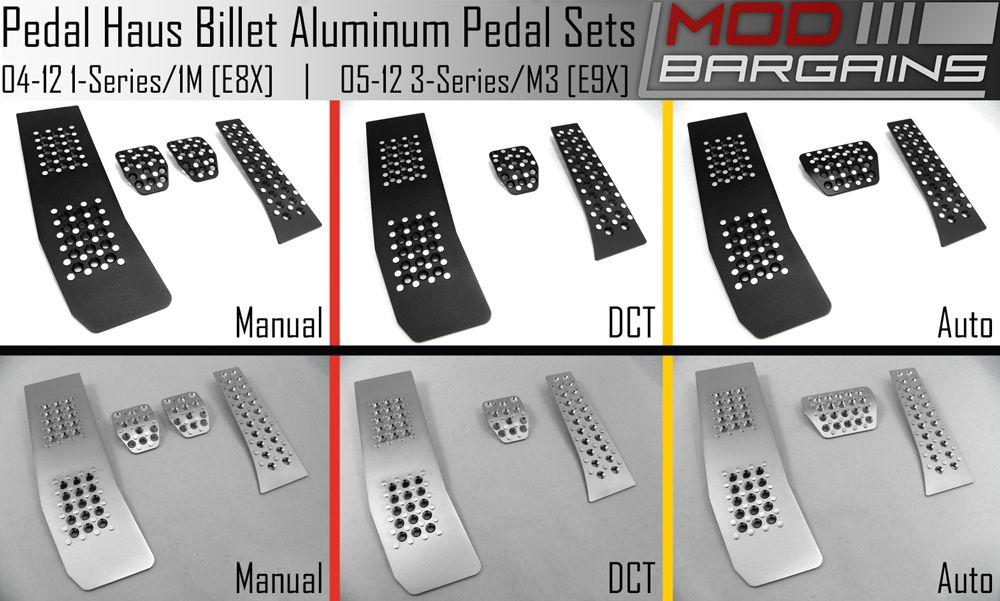 Pedal Haus Black & Silver Aluminum Pedals for 1 Series/1M, 3 Series/M3 & X1 [E8X/E9X/E84]