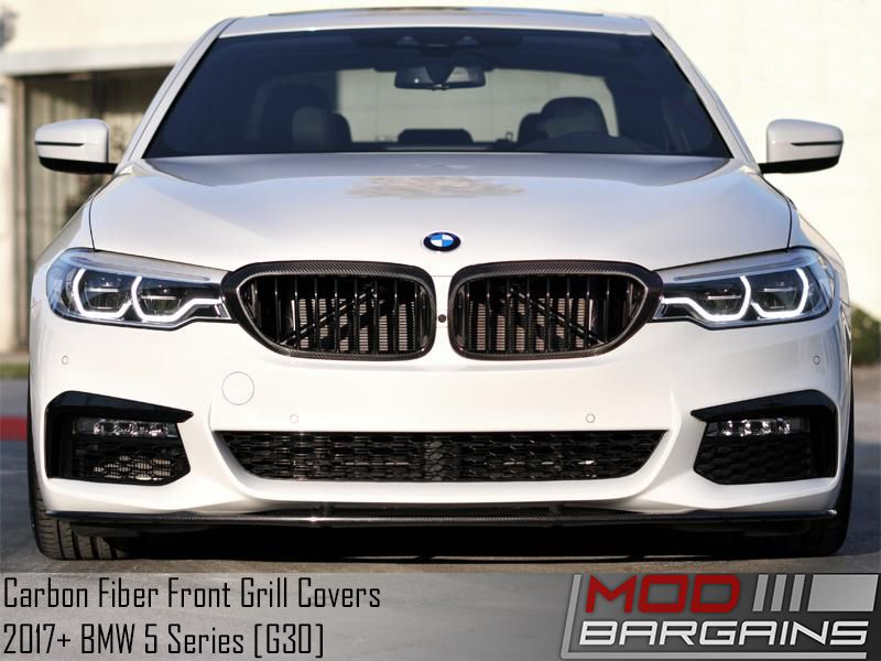 Carbon Fiber Front Grill Covers for 2017+ BMW 5-Series [G30] ATK-BM-0252