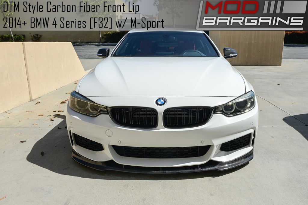 DTM style front lip for 2014+ BMW 4-Series w/ M-Sport [F32] BMFS3227