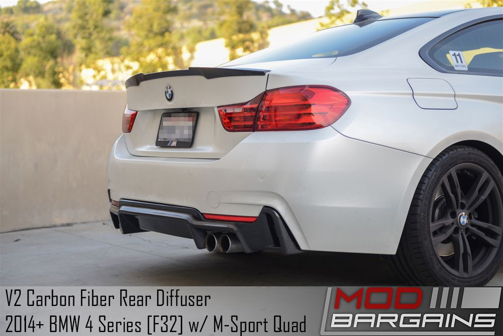 V2 Carbon Fiber Diffuser for BMW 4 Series w/ M Sport Quad [F32/F33/F36] - BMDI3225