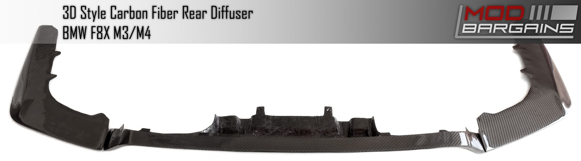 Carbon Fiber 3D Diffuser for 2015+ BMW M3 & M4  [F80/F82] (BMDI8X05)