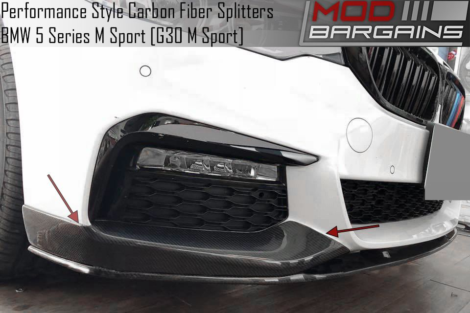 Carbon Fiber Front Bumper Splitters for 2017+ BMW 5 Series w/ M-Sport [G30]