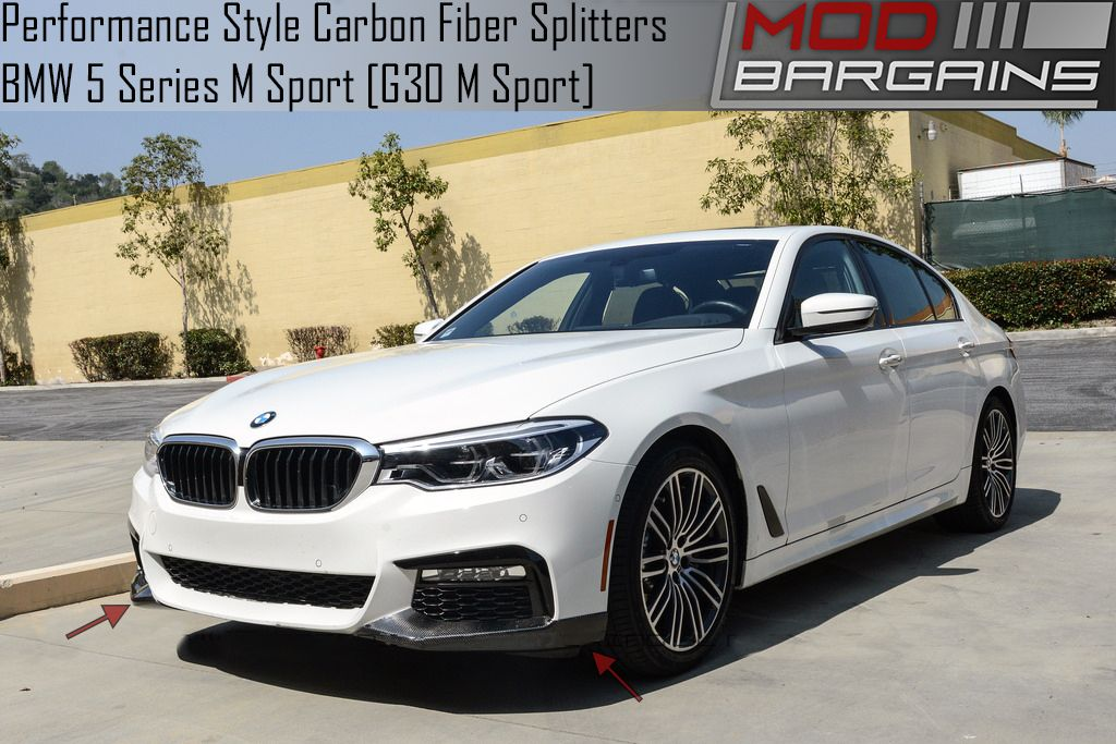 Performance Style Carbon Trunk Bumper Splitters for G30 BMW 5 Series with M-Sport BMFSG3022