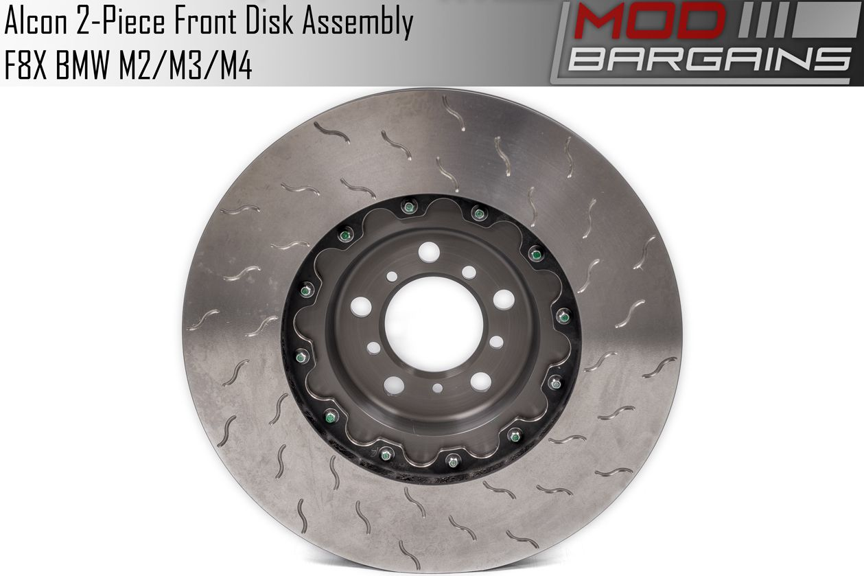 Front Pair of Alcon 2 Piece Rotors for F8X BMW M Vehicles