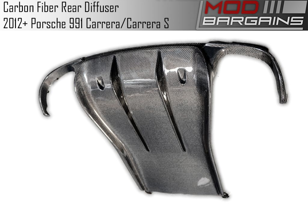 Carbon Fiber Rear Diffuser for 2012+ Porsche 911 Carrera [991] PODI9101