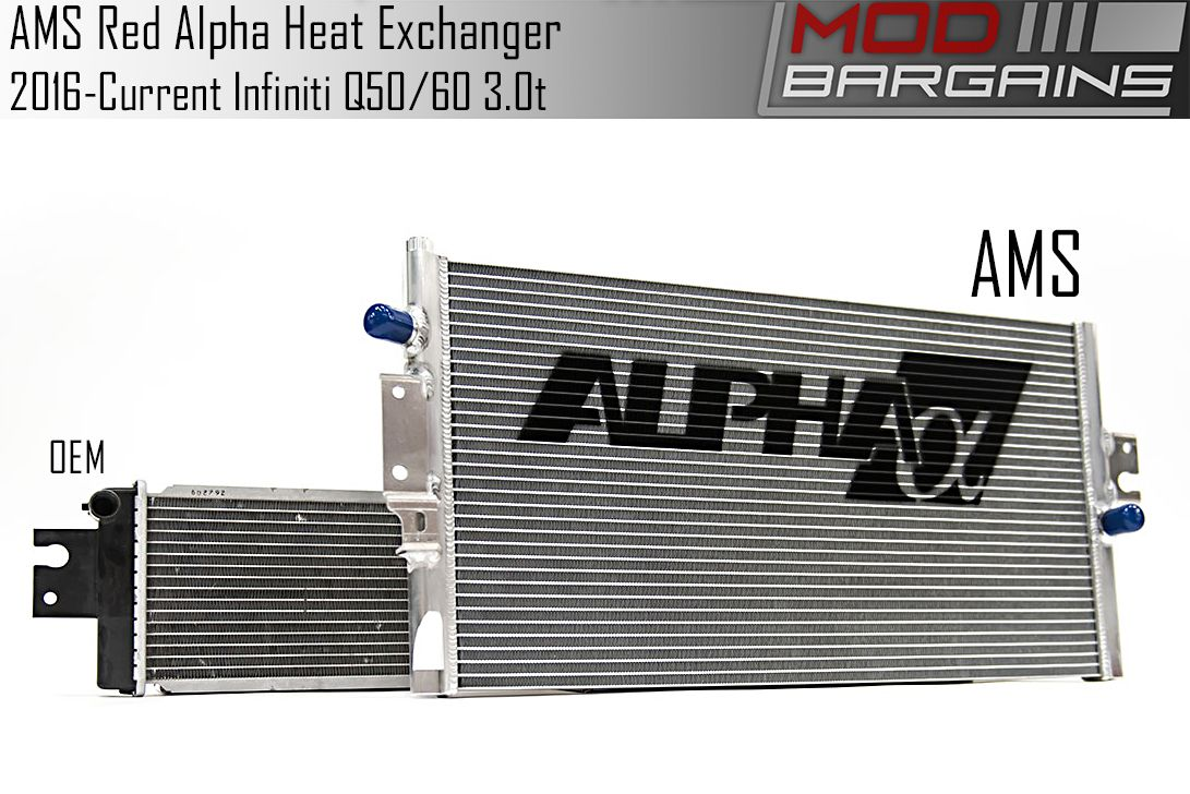 AMS Red Alpha Heat Exchanger for 2016+ Infiniti Q50/Q60 3.0t