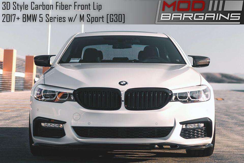 3D Style Carbon Fiber Front Lip for 2017+ BMW G30 5 Series M Sport BMFSG30288