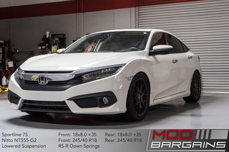 Sportline 7S Wheel 18x8 +35 Installed Honda Civic 2016+ Sedan