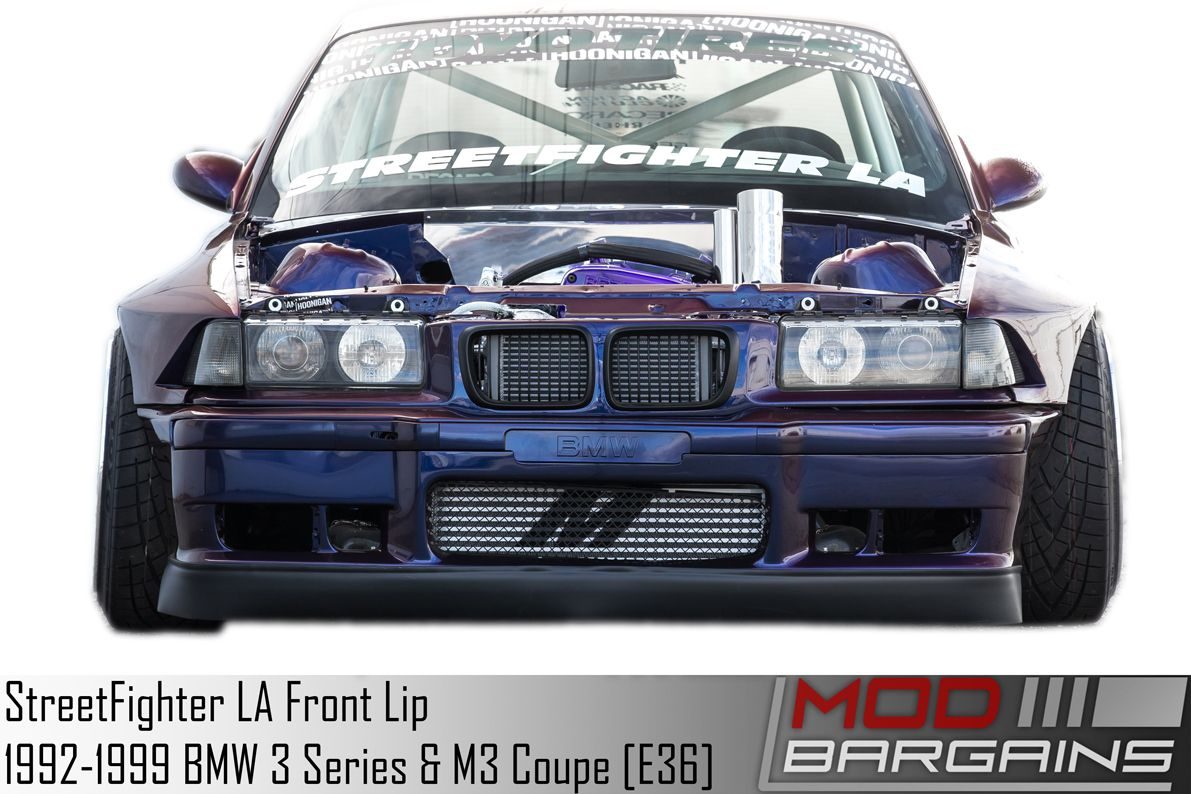 StreetFighter LA Front Lip for BMW E36 - SFXLA-E36-2DR-FRONTLIPSTREETFIGHTER