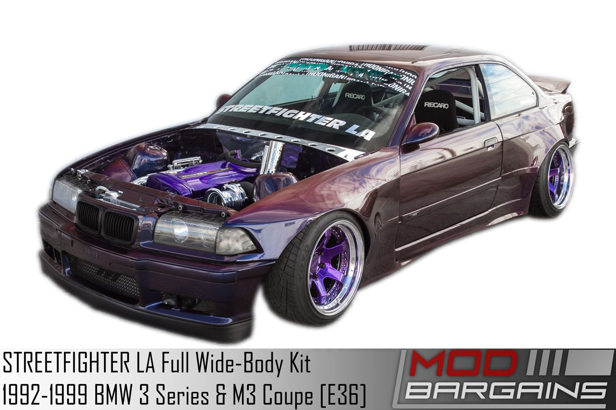 STREETFIGHTER LA Wide Body Kit for 1992-1999 BMW 3 Series & M3 Coupe [E36]