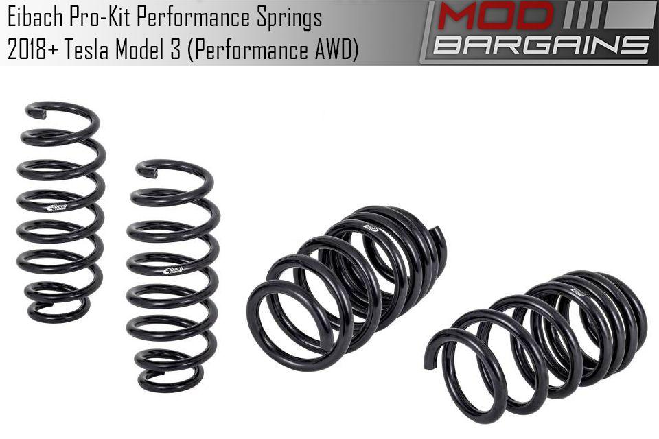 Get Eibach Pro-Kit Performance Lowering Springs Tesla Model 3 Performance AWD